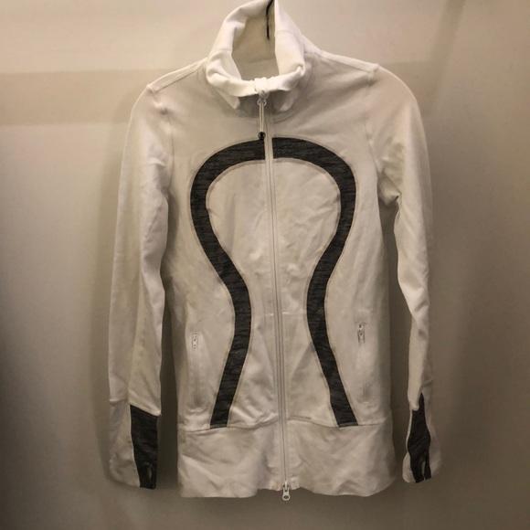 lululemon athletica Jackets & Blazers - Lululemon white and gray jacket, sz 6, 71258